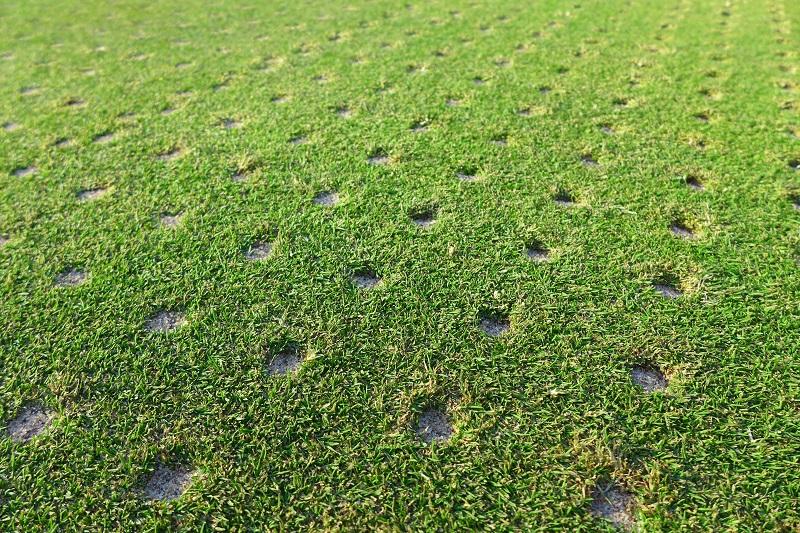 Grass aeration