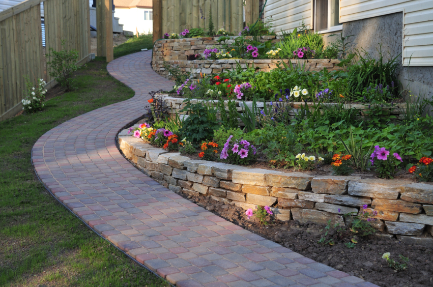 between landscaping phases