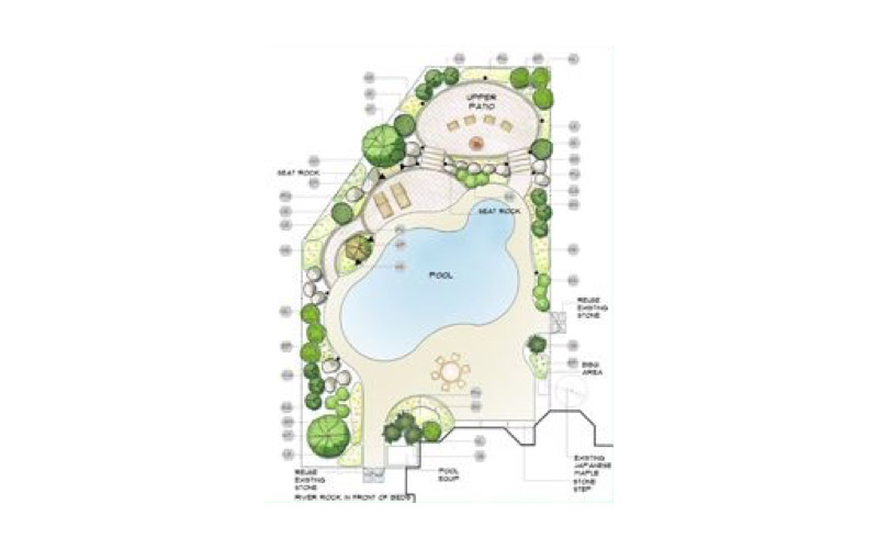 landscape design planning and drafting