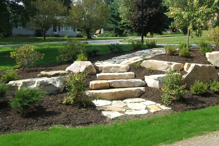 Stone walkway with steps