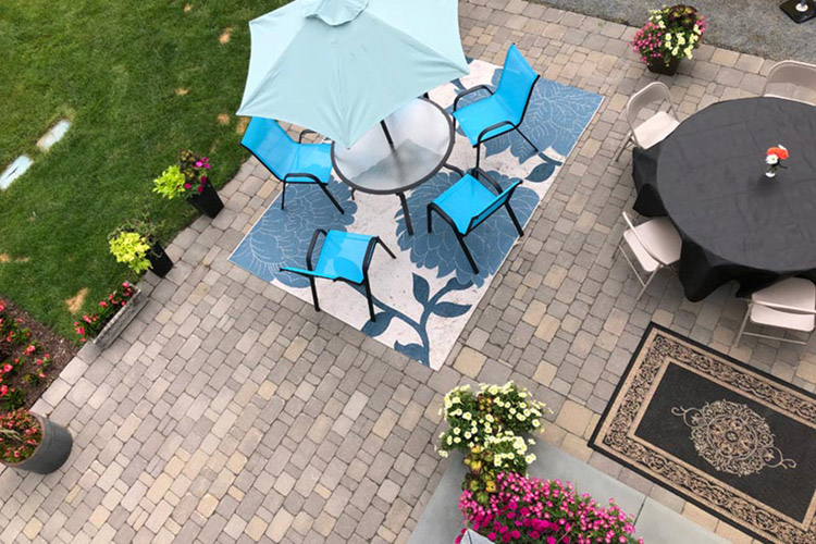 Patio with patio furniture