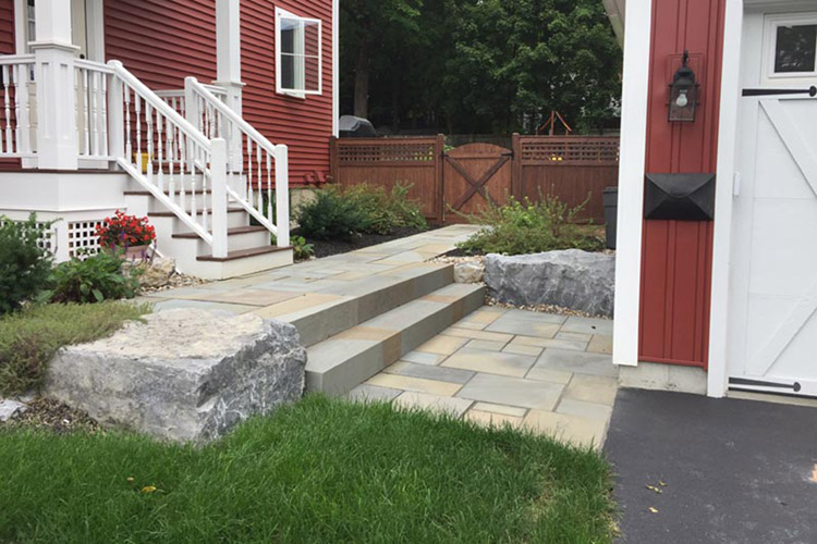 Stone steps out side door