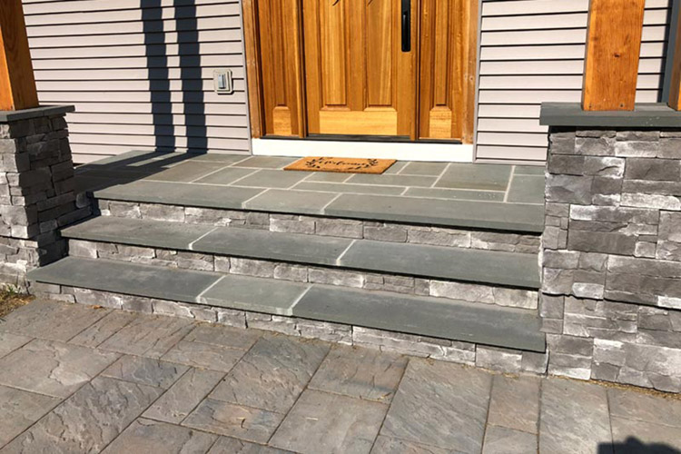 Front steps and landing