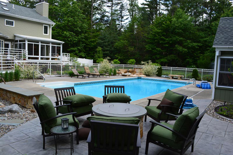 Pool, patio furniture