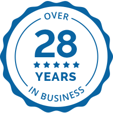 Over 28 Years in Business logo